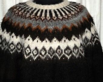 100% Alpaca Hand Knit Sweater Large Size
