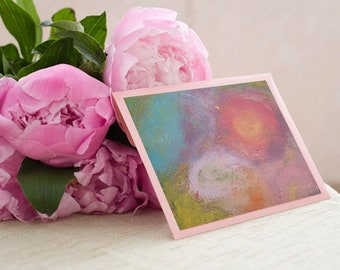Abstract painting, colors, joy, contemporary, postcard