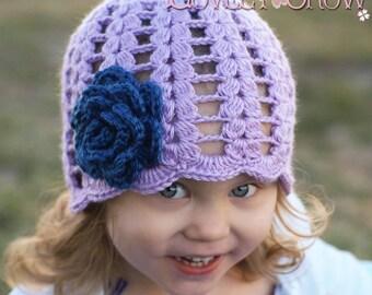 Rose Beanie Crochet Pattern  for SPRING PROMISES BEANIE digital