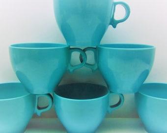 Vintage Blue Melmac Cups