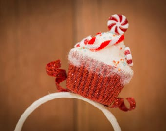 Red Peppermint Cupcake