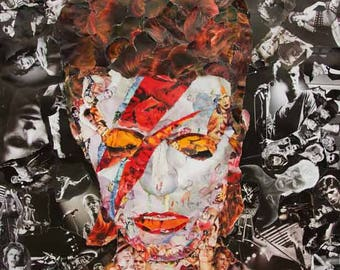 David Bowie Collage Poster, Print or Canvas