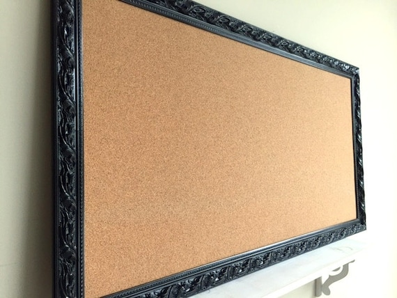 JEWELRY ORGANIZER Wall Cork Board Black Corkboard Pinboard