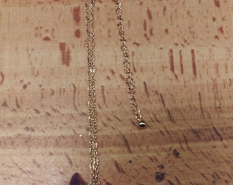 Gold Anchor with Charms Necklace
