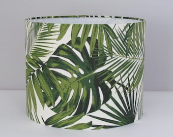 Lamp shades etsy uk handmade retro botanical palm leaves tropical 25cm 30cm 40cm lightshade lampshade aloadofball Images