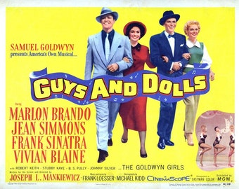 Guys and Dolls  Movie Poster Digital Print Various Sizes