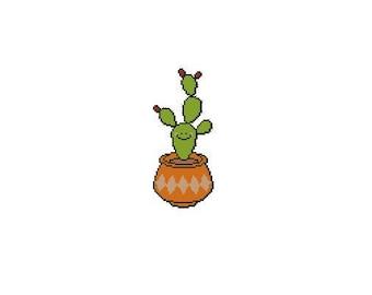 Cute Cactus Counted Cross Stitch Chart Pattern PDF