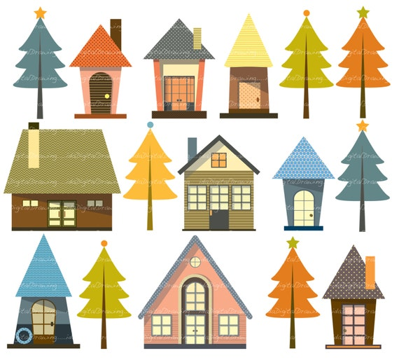 new home clip art high resolution personal and commercial rh etsy com new home construction clipart congratulations new home clipart