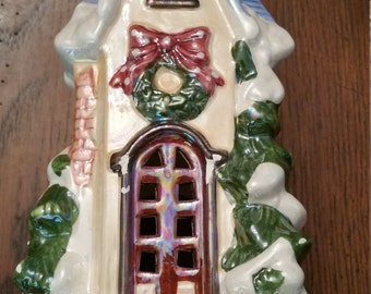 90s Vintage Christmas Tea Light House / Gingerbread House / CIJ / Christmas in  July / Christmas Cottage / Christmas Decor / Christmas Gift
