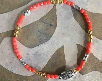 Bracelet 185 fancy coral