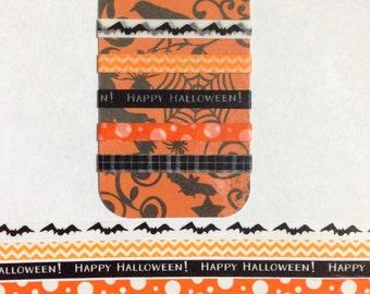 "Set of 5 - 30"" Skinny Halloween Washi Sample Set"