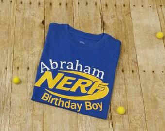 Nerf Gun Birthday Boy Shirt