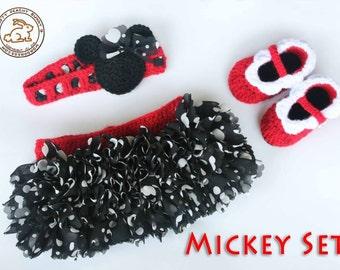 Mickey or Minnie Girl Tutu Set