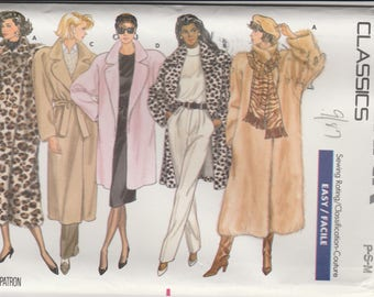 Winter Coat Pattern Butterick 5853 Sizes 6 - 14 Uncut