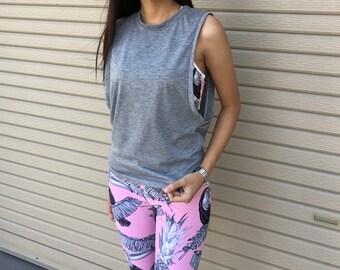 Womens Workout Tank top, Women's Muscle Tee, Plain Tank Top, Womens Tank, Workout Tee, Fitness Yoga Top, Workout Shirts