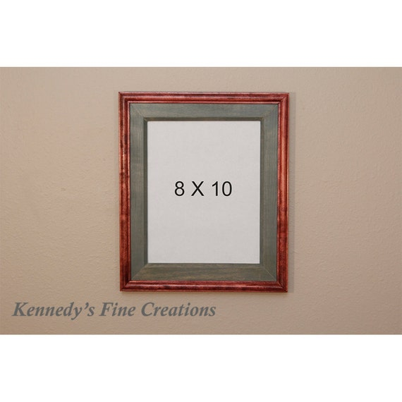 Custom Cabernet Stained Wood Picture Double Frame 8x10