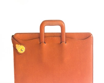 Extremely rare Burberrys men's briefcase in tan leather with key