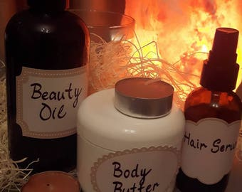 Home-made 3-pack beauty products