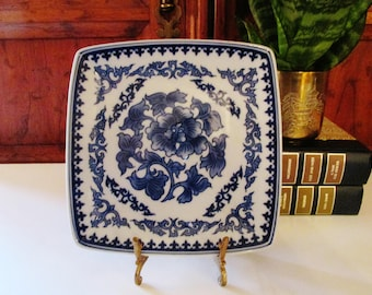 Chinoiserie Blue and White Letter Tray, Paris Apartment, Bombay Co., Palm Beach Decor