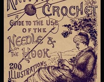 Jenny June's Needlework c.1885 - A Manual of Knitting, Crochet and Macrame
