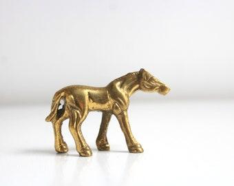 Brass Horse, Brass Horse Figurine, Horse Figurine Brass Figurine Gold Horse Figurine Horse Statue Tiny Brass Horse Brass Decor Vintage Horse