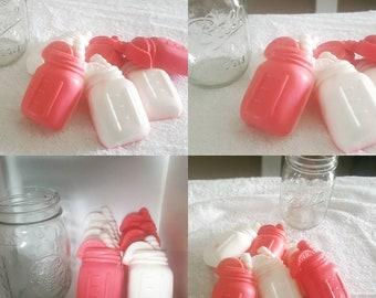LOT of 6 Japanese Cherry blossom mason jar soaps
