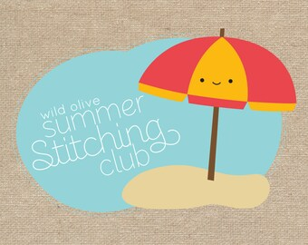Summer Stitching Club - Embroidery Patterns and English Paper Piecing Mini Quilt Project