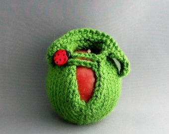 Apple Jacket Cozy Sweater Ladybug Lucky Kelly Green Emerald Green