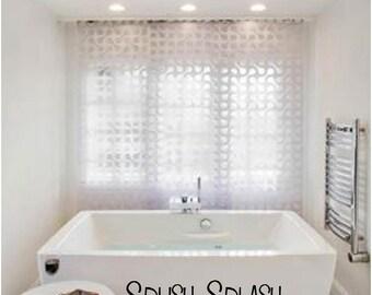 Splish Splash I was takin' a bath Vinyl Decal - Bathroom Decor, Bathroom Wall Decal, Bathroom Wall Art, Bathroom Vinyl, Splish Splash 21x6.8