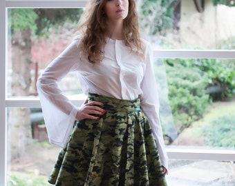 Camouflage Moro Skirt Midi Skirt Coolawoola Green Wrap Around Waist Skirt All Sizes