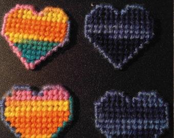 Set of 8 Heart magnets