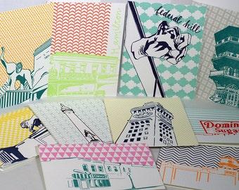 Baltimore Letterpress Card Neighborhood mix pack   ten Baltimore neighborhood blank cards with envelopes