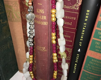 """16"""" double strand layered statement necklace"""
