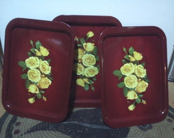 Breakfast In Bed For Mom ~yellow roses~Vintage Trays