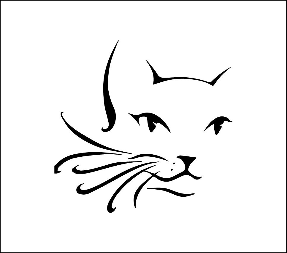 Cat Face Decal Cute Cat Car Decal Cat Vinyl Decal Wiskers