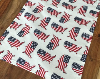 America Table Runner-American flag, USA, fourth of july