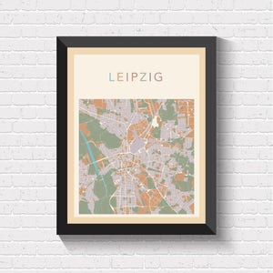 Leipzig germany map Etsy AU
