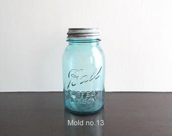 Blue Ball Mason Jar,Blue Ball Jars,Blue Ball Canning Jars,Ball Perfect Mason,Bell Perfect Mason Jar,Vintage Ball Jars,Vintage Ball Mason Jar