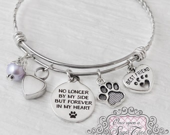 PET Cremation Jewelry, URN BRACELET, Cremation Bracelet- Loss of Pet Bracelet, Remembrance,No Longer by my side, Bereavement