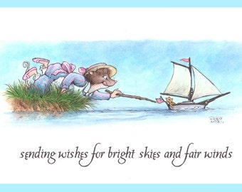 Fox Hollow Tales, Bright skies and fair winds, greeting card