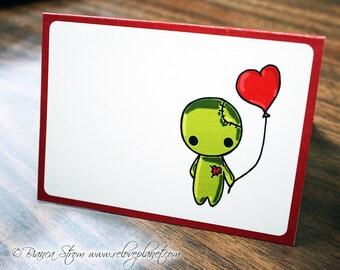 ZOMBIE Love Balloon Card - birthday anniversary congratulations anything - ReLove Plan.et Art Print