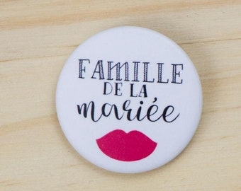 Wedding bride's family badge