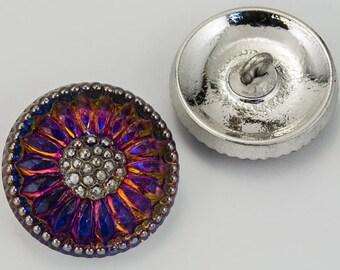 18mm Iridescent Volcano Daisy Button #BUT019