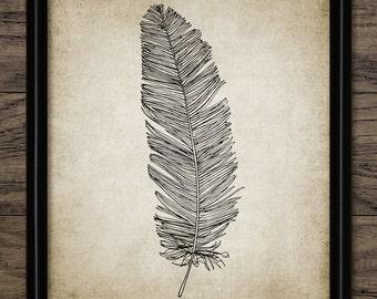 Feather Print - Home Decor - Feather Art - Bird Feather Print - Feather Decor - Single Print #330 - INSTANT DOWNLOAD