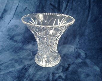 Pretty cut crystal vintage vase from 1960s