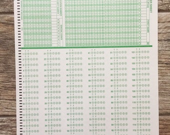 Scantron pages | Vintage | Testing material