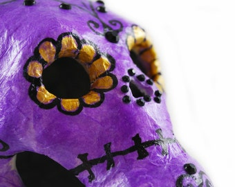Day of the Dead Sugar Skull Centerpiece - Dark Home Decor - Skull - Día de Muertos - Gothic Gifts