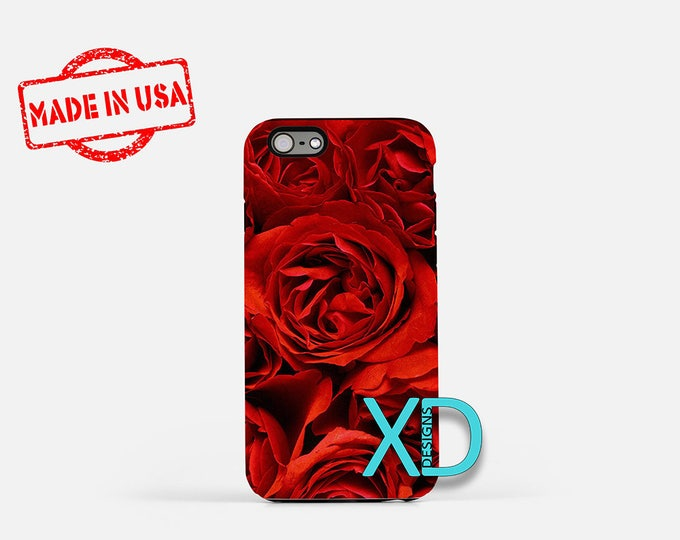Red Rose iPhone Case, Flower iPhone Case, Red Rose iPhone 8 Case, iPhone 6s Case, iPhone 7 Case, Phone Case, iPhone X Case, SE Case New