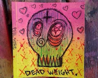 "Sticker ""Dead Weight"" 3.5×3.3inch approx."