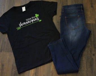 Time for Shenanigans Shamrock T-shirt